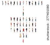 corporate teamwork workforce... | Shutterstock . vector #277401080