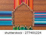 colored pencils formed into a... | Shutterstock . vector #277401224