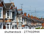 row of typical english terraced ... | Shutterstock . vector #277410944