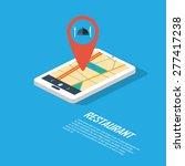 smartphone navigation in modern ... | Shutterstock .eps vector #277417238