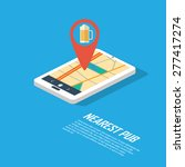 smartphone navigation in modern ... | Shutterstock .eps vector #277417274