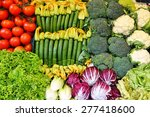 colorful spring vegetable at an ... | Shutterstock . vector #277418600