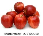 ripe red apple. isolated on a... | Shutterstock . vector #277420010
