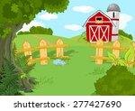 illustration of idyllic rural... | Shutterstock .eps vector #277427690