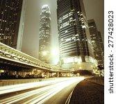 traffic city night  at hongkong ...   Shutterstock . vector #277428023