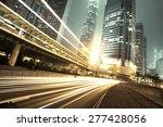 traffic city night  at hongkong ... | Shutterstock . vector #277428056