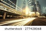 traffic city night  at hongkong ... | Shutterstock . vector #277428068