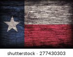texas flag pattern on wooden... | Shutterstock . vector #277430303