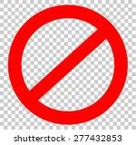 not allowed sign | Shutterstock .eps vector #277432853