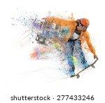 skateboarder likes to roll... | Shutterstock . vector #277433246