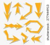 yellow sticker arrow set... | Shutterstock .eps vector #277444913