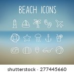 set of hand drawn doodle style... | Shutterstock .eps vector #277445660