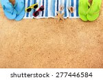 Summer Beach Border  Copy Space