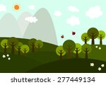 vector of view on the hills...   Shutterstock .eps vector #277449134
