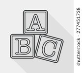 abc blocks flat icon with long... | Shutterstock .eps vector #277451738