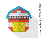 barn flat icon with long shadow | Shutterstock .eps vector #277452509