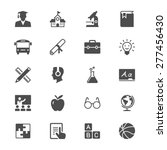 education flat icons | Shutterstock .eps vector #277456430