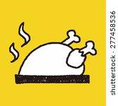 roast chicken doodle drawing | Shutterstock .eps vector #277458536