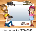 Frame Of Tourists With Cameras...