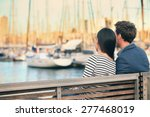 Lovers Couple Romantic Dating...