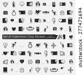 valentine's day vector sticker... | Shutterstock .eps vector #277471694