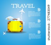 suitcase. template for flyers... | Shutterstock .eps vector #277483049