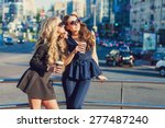 lifestyle portrait of two best... | Shutterstock . vector #277487240