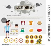 dust mites information. sneeze. ... | Shutterstock .eps vector #277487714