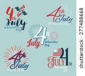 happy independence day united... | Shutterstock .eps vector #277488668