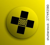 medical patch icon. yellow... | Shutterstock . vector #277492580