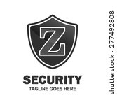 security letter z logo shield... | Shutterstock .eps vector #277492808
