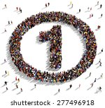 large group of people seen from ... | Shutterstock . vector #277496918