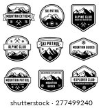 set of 9 vector high quality... | Shutterstock .eps vector #277499240