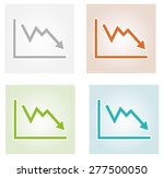 four decreasing graph icons... | Shutterstock .eps vector #277500050
