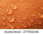 orange waterproof textile... | Shutterstock . vector #277502246
