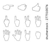 set of gestures. contours on a... | Shutterstock .eps vector #277510076