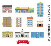 City Buildings Vector Set....