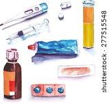 A Set Of Watercolour Healthcar...