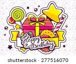 vector illustration of gift box ... | Shutterstock .eps vector #277516070