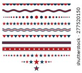 red and blue dividers for... | Shutterstock .eps vector #277520150