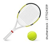 combinated tennis racket and... | Shutterstock .eps vector #277524359