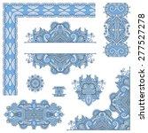 set of blue colour paisley... | Shutterstock . vector #277527278