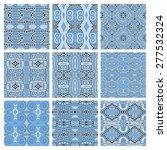 set of different seamless blue...   Shutterstock . vector #277532324