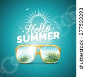 vector illustration on a summer ... | Shutterstock .eps vector #277533293