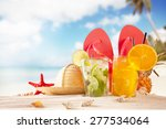 summer beach with accessories.... | Shutterstock . vector #277534064