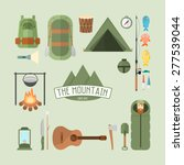 set of camping and travel... | Shutterstock .eps vector #277539044
