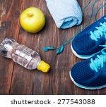 sneakers  water  towel ...   Shutterstock . vector #277543088