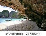 cave on the island of pkhi pkhi | Shutterstock . vector #27755344