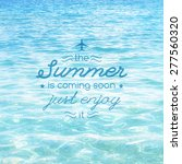 summer is coming soon  vector... | Shutterstock .eps vector #277560320