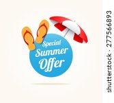 special summer offer | Shutterstock .eps vector #277566893